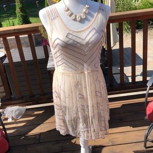 🆕 wtags Free People Intimately sheer beaded dress